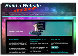 Build A Website Workshops Home Page
