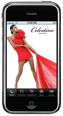 Celestino Couture iPhone Application