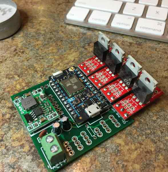 IoTv2 PCB with LED drivers