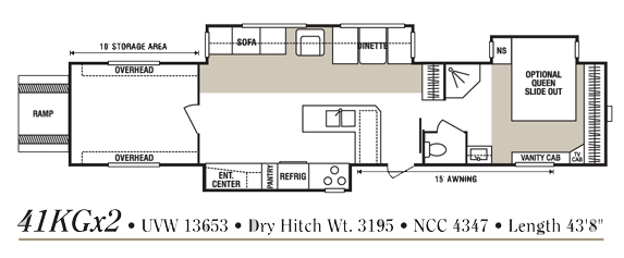 Floor plan of our RV