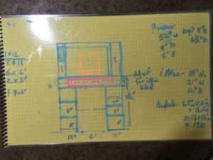 Hand drawn design for piano cabinet