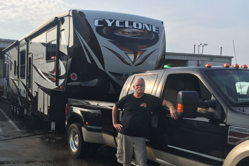 Ron with new RV