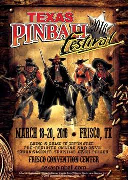 Texas Pinball Festival poster