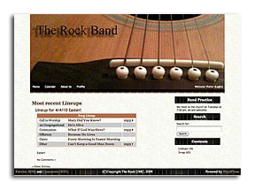 TheRockBand.org home page