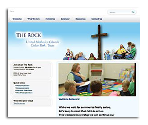 TheRockUMC.org home page